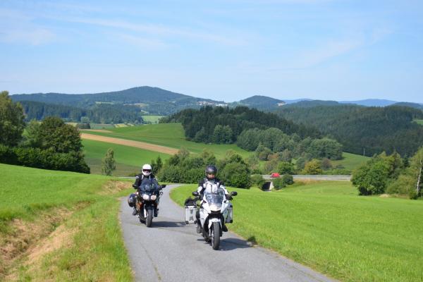 Motorradfahren im Bayerischer Wald ©Peter Wahl