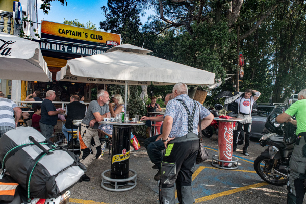 Motorrad fahren - Kroatien - Harley Davidson Bar © Peter Wahl