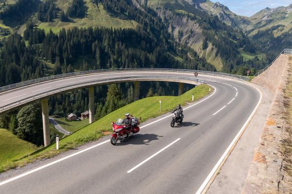 Motorradspaß rund um Stuben am Arlberg- Hochtannbergpass ©motorradstrassen